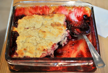Blackberry Cranberry Cobbler