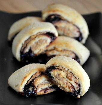 Peanut Butter and Jelly Rugelach