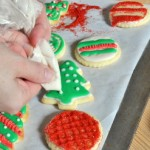 Decorating cutout christmas cookies