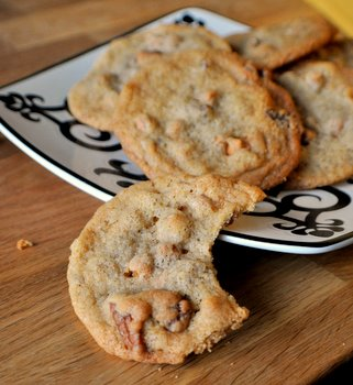 Salted Butterscotch Pecan Cookies