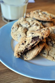 Brown Sugar Chocolate Chunk Cookies, innards