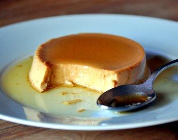 Dulce de Leche Creme Caramel, with bite