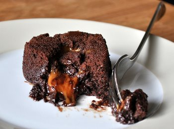 Caramel-Filled Molten Chocolate Cake