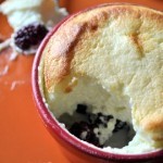 Lemon Blackberry Souffles