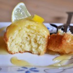Macadamia Nut Cakes with Lemon Curd