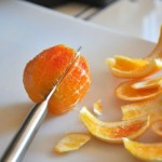 Slicing an orange