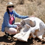 Nicole and Elephant Skull