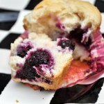 Blackberry and Cream Cheese Muffin