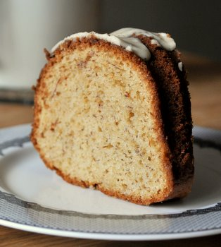 Browned Butter Banana Bundt Cake