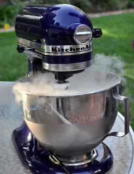 Dry Ice in the Stand Mixer