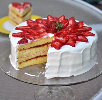 Strawberry Chiffon Buttercream Cake Recipes — Dishmaps