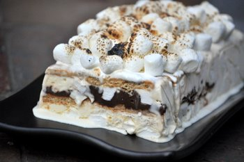 S'mores Ice Cream Terrine