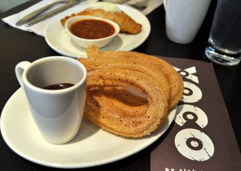 XOCO Churros With Mexican Hot Chocolate Recipe — Dishmaps
