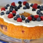 Red, White and Blue Berry Yogurt Cake