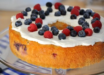 Red, White and Blue Yogurt Cake