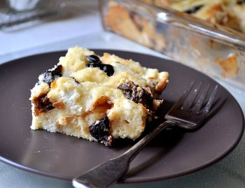 Fig and Goat Cheese Bread Pudding
