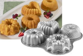 Nordic Ware Quartet Mini Bundt Pan Baking Bites