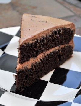 Chocolate Chocolate Chip Layer Cake