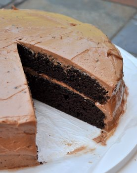 Chocolate Chip Layer Cake with Chocolate Chip Buttercream