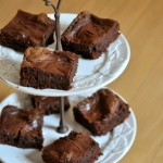 Chocolate Cheesecake Brownies, ready to serve