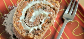 Carrot Cake Roulade with Cinnamon Cream Cheese Filling