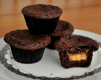 Mini Chocolate Peanut Butter Cupcakes