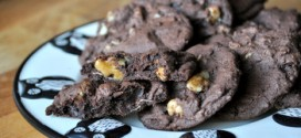 Hint of Mint Chocolate Brownie Cookies with Walnuts
