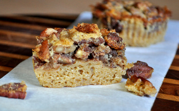 Impossible Pecan Pie Cupcakes, interior