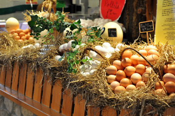 Eggs at La Boqueria Market