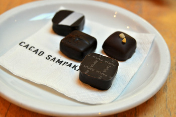 Sampler at Cacao Sampaka