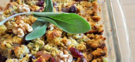 Browned Butter and Sage Stuffing with Walnuts and Cranberries