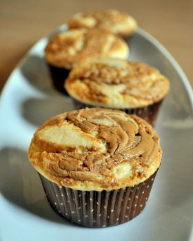 Self Frosting Biscoff Cupcakes