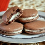 Chocolate Macarons with Cream Cheese Filling