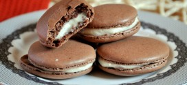 Chocolate Macarons with Vanilla Buttercream Filling