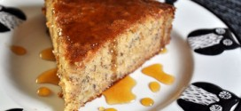 Banana Cake with Orange Caramel Glaze