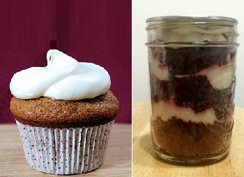Cupcake vs Cupcake in Jar