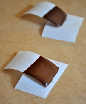 Chocolate test strips