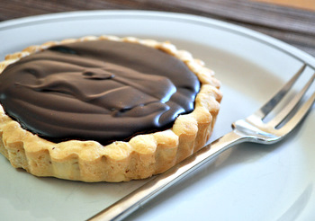Dark Chocolate Mocha Truffle Tart