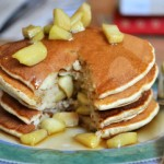 Apple Cinnamon Buttermilk Pancakes, innards