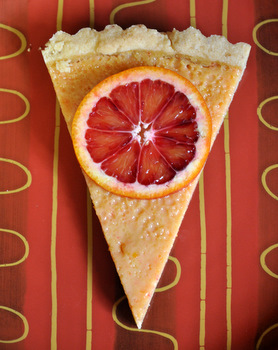 Blood Orange Tart Slice