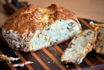Lemon and Walnut Soda Bread