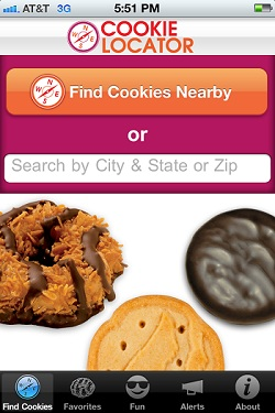 "Girl Scout ""Cookie Locator"" Smartphone App"