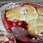 Rhubarb and Raspberry Cobbler