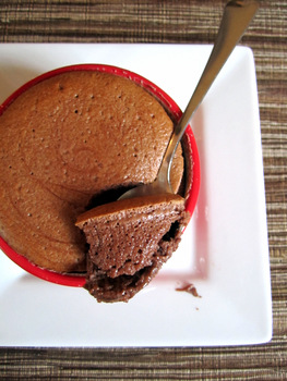 Chocolate Yogurt  Souffles