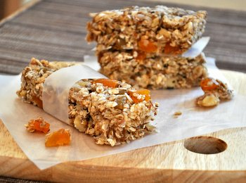 Coconut Apricot Granola Bars with Walnuts