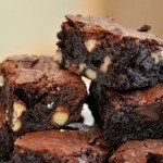 Fudgy Gluten Free Brownies, up close