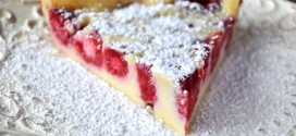 Crustless Raspberry Custard Pie