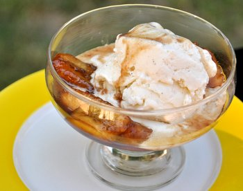 Bananas Foster with Ice Cream