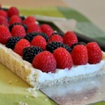 Mixed Berry and Mascarpone Tart, layers