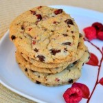 Raspberry Cornmeal Chocolate Chip Cookies